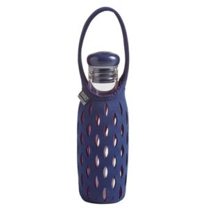 Veggie Meals - Built NY 500ml Glass Water Bottle with Neoprene Tote - Navy