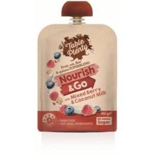 Table of Plenty Nourish & Go Mixed Berry & Coconut Milk 150g