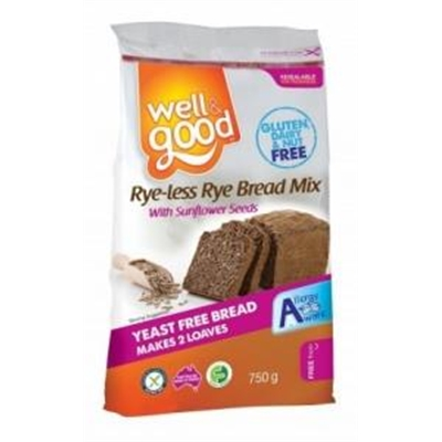Well And Good Rye-less Rye Bread Mix G/F 750g