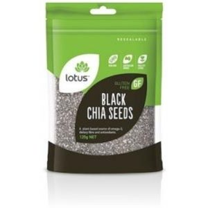 Lotus Chia Seeds Black (Bag) G/F 125g