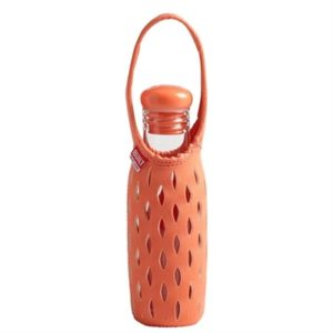 Veggie Meals - Built NY 500ml Glass Water Bottle with Neoprene Tote - Coral