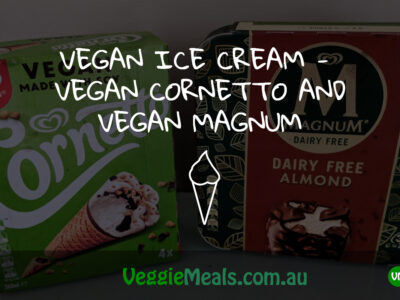 VEGAN ICE CREAM –  VEGAN CORNETTO AND VEGAN MAGNUM