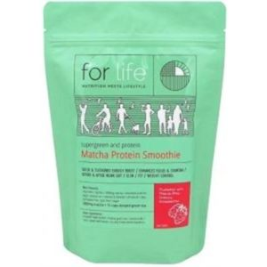 For Life Matcha Protein Smoothie Powder Strawberry 500g