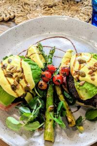 Veggie Meals Avocado vegan bacon stack recipe