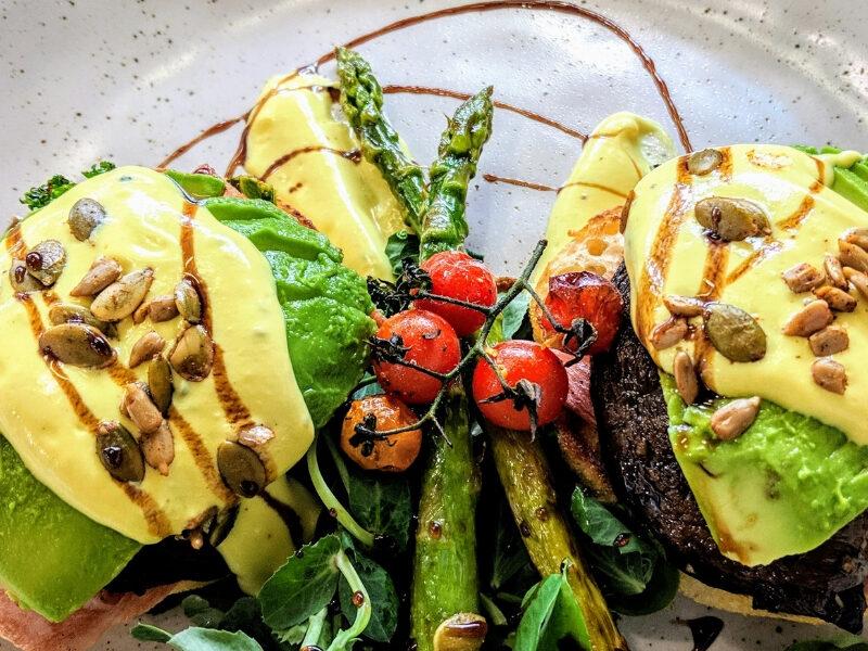 Avocado & Vegan bacon stack