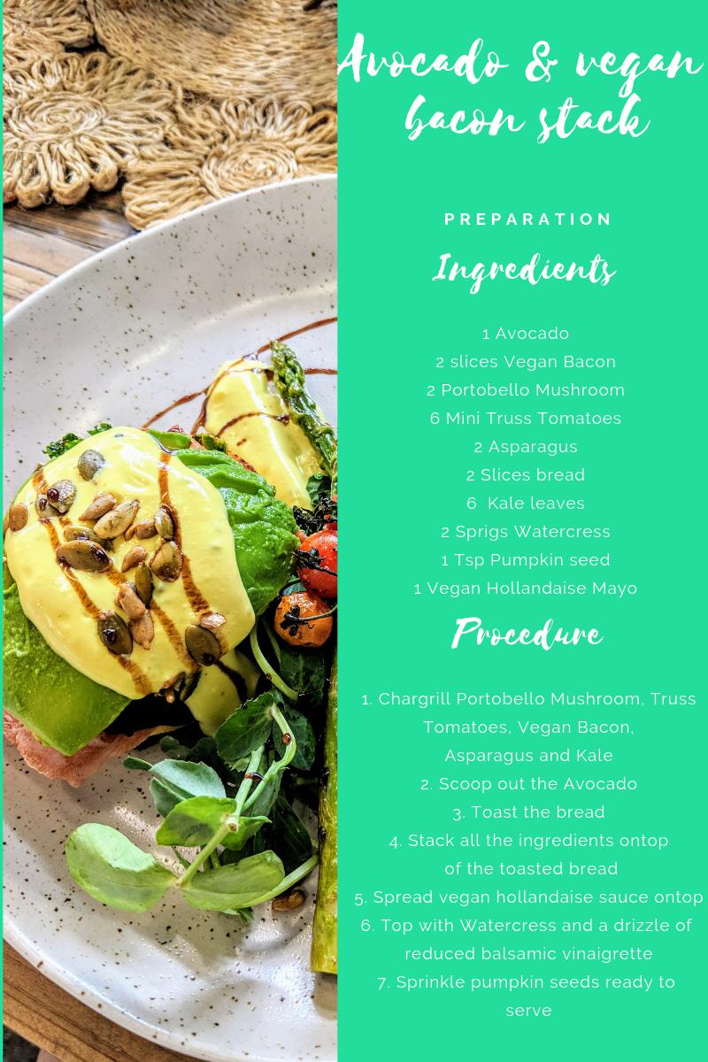 Veggie Meals - Avocado & vegan bacon stack recipe