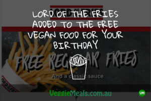 Veggie Meals Lord of the fries