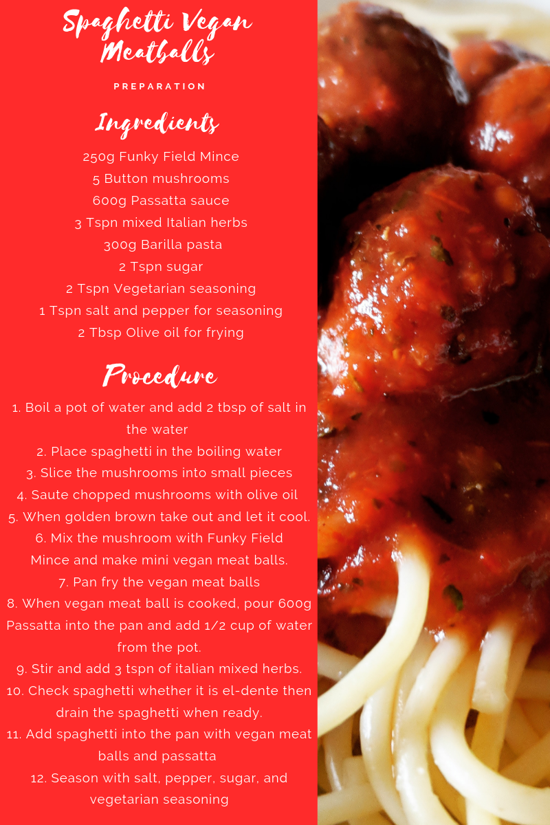 Veggie Meals - Spaghetti vegan meatballs recipe