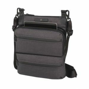 Veggie Meals - Victorinox Wilson - iPad Crossbody Bag - Grey/Brown