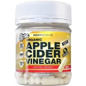 BSc Organic Apple Cider Vinegar with the Mother G/F 60 Vegan Caps