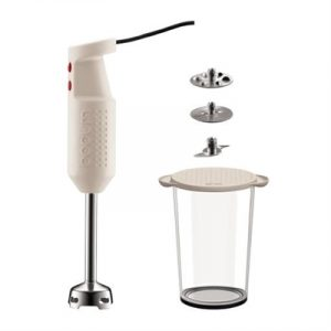 Veggie Meals - Bodum BISTRO  Electric blender stick with accessories Off white