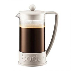 Veggie Meals - Bodum Brazil French Press Coffee Maker 8 Cup 1.0 Litre Off White