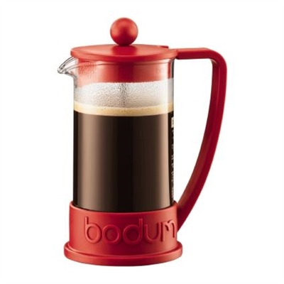Veggie Meals - Bodum Brazil French Press Coffee Maker 8 Cup 1.0 Litre Red