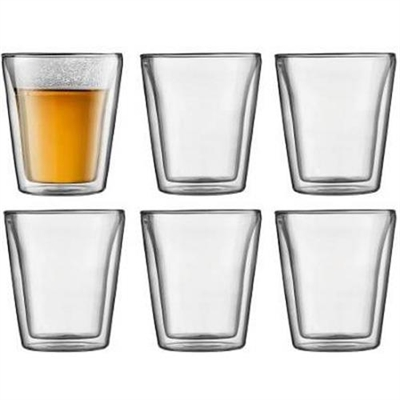 Veggie Meals - Bodum CANTEEN Set of 6 glasses double wall medium 0.2 l