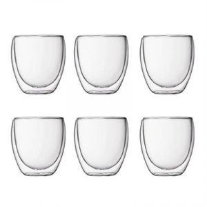 Veggie Meals - Bodum Pavina Double Wall Glasses Set of 6 Small 80ml