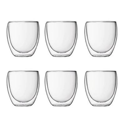 Veggie Meals - Bodum Pavina Double Wall Glasses Set of 6 Small 80ml
