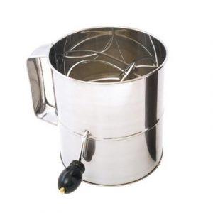 Veggie Meals - Large 8 Cup Large Flour Sifter (Crank Handle)