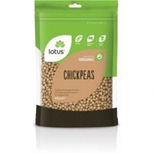 Lotus Organic Chick Peas 500gm