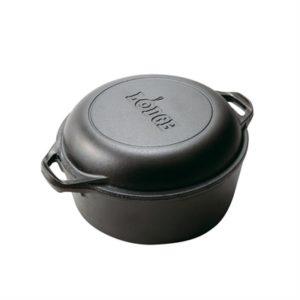 Veggie Meals - Lodge 4.7l Cast Iron Double Dutch Oven