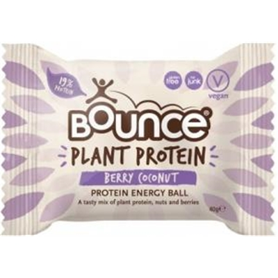 Bounce Plant Protein Berry Coconut Balls G/F 12x40g