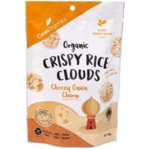 Ceres Organics Organic Crispy Rice Clouds Cheezy Onion Charm G/F 50g