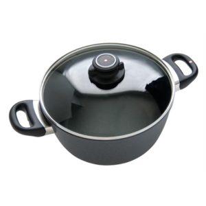 Veggie Meals - Swiss Diamond 24 X 10cm Casserole/Stock Pot with lid 5.2 litre