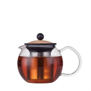 Veggie Meals - Bodum Assam Tea Press with Stainless Steel Filter 0.5L - Cork