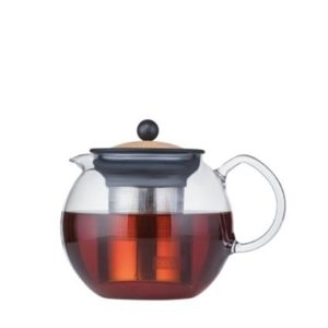 Veggie Meals - Bodum Assam Tea Press with Stainless Steel Filter 1.0L - Cork