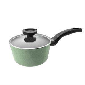 Veggie Meals - Neoflam Saucepan 18cm Green marble + glass lid - Luke Hines