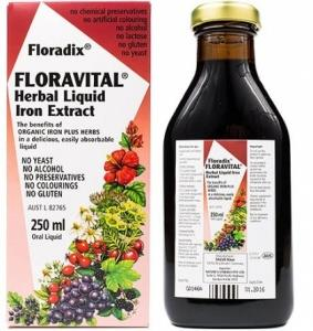 Floradix Floravital Herbal Liquid Iron Extract 250ml