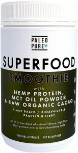 Paleo Pure Superfood Smoothie with Hemp Protein
