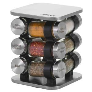 Veggie Meals - Avanti Rotating Spice Rack Set - 12 Jars