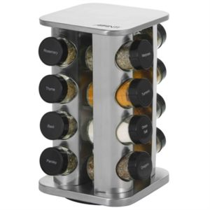 Veggie Meals - Avanti Rotating Spice Rack Set - 16 Jars