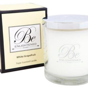 Veggie Meals - Be Enlightened Triple Scented 80hr Candle White Grapefruit
