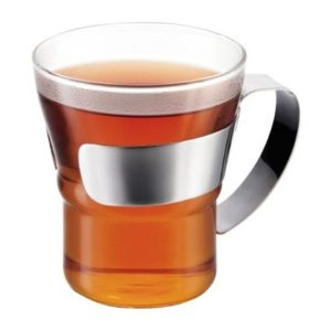 Veggie Meals - Bodum Assam Tea Glass with steel handle 300ml Set Of 2