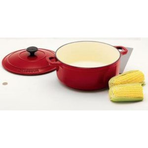 Veggie Meals - Chasseur Federation Red Round French Oven 24cm / 3.8 Litre