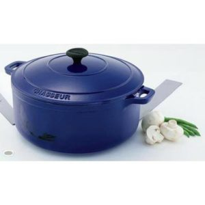 Veggie Meals - Chasseur French Blue Round French Oven 28cm / 6.3 Litre