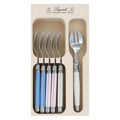 Veggie Meals - Laguiole Andre Verdier Debutant Cake Fork Set of 6 Jardin