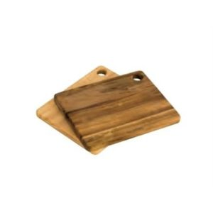 Veggie Meals - Peer Sorensen Acacia + Rubberwood 2 Piece Utility Board Set 19.5 X 15 X 1.45cm