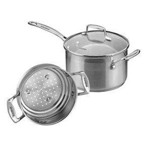 Veggie Meals - Scanpan Impact 3.5 Ltr / 20 Cm Saucepan with bonus multi steamer 16