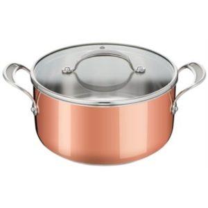 Veggie Meals - Tefal Jam Oliver Jamie Oliver Premium Triply Copper Stewpot 24cm + 1 Lid