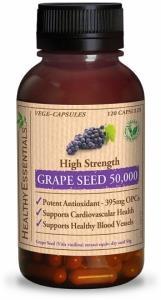 Healthy Essentials Grape Seed 50 000mg 120 Vege caps FEB21