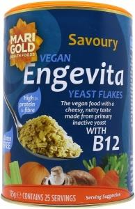 Marigold Engevita Yeast Flakes with added B12 + Zinc (Blue) 125gm