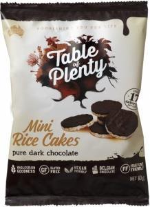 Table of Plenty Dark Chocolate Mini Rice Cakes G/F  60g