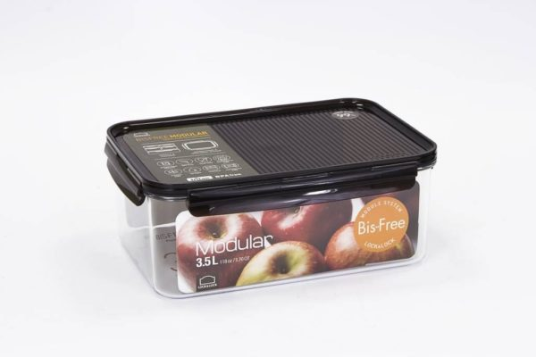 Veggie Meals - Lock & Lock Bisfree Modular Rectangular container 3.5L