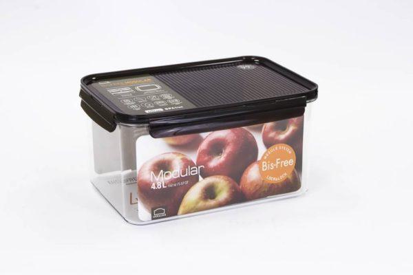 Veggie Meals - Lock & Lock Bisfree Modular Rectangular container  4.8L