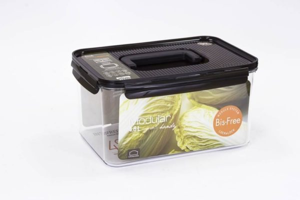 Veggie Meals - Lock & Lock Bisfree Modular Rectangular container 4.8L with Handle