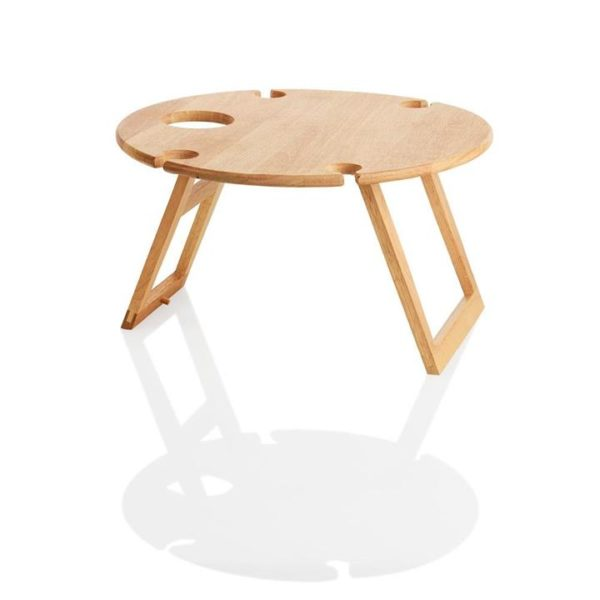 Veggie Meals - Stanley Rogers Round Travel Picnic Table 50cm