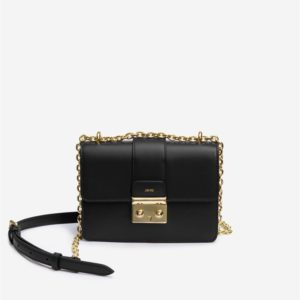 Veggie Meals - Kira Chain Crossbody Bag - Black