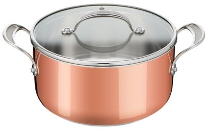 Veggie Meals - Tefal Jamie Oliver Premium Triply Copper Stewpot 24cm + 1 Lid